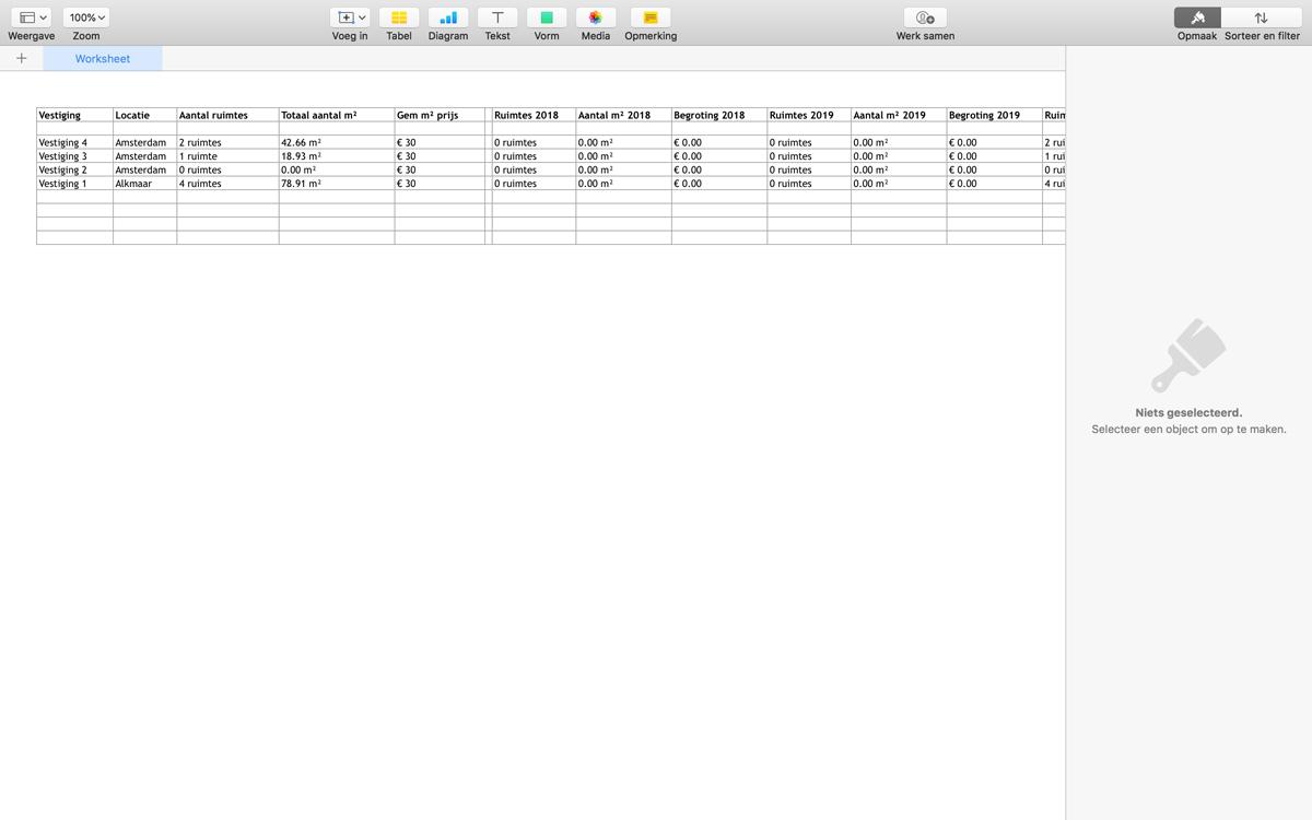 Exporteer uw begroting naar Excel